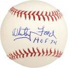 Whitey Ford Yankees Autographed Signed 5 STATS Baseball PSA