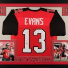 Mike Evans Autographed Signed Framed Tampa Bay Buccaneers Jersey JSA