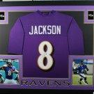 Lamar Jackson Autographed Signed Framed Baltimore Ravens Jersey JSA