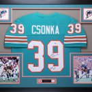 Larry Csonka Autographed Signed Framed Miami Dolphins Jersey JSA