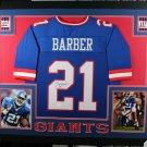 Tiki Barber Autographed Signed Framed New York Giants Jersey JSA