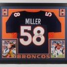 Von Miller Autographed Signed Framed Denver Broncos Jersey JSA
