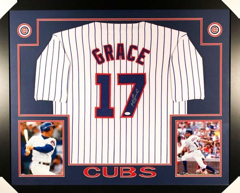 Mark Grace Autographed Signed Framed Chicago Cubs Jersey JSA