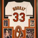 Eddie Murray Autographed Signed Framed Baltimore Orioles Jersey JSA