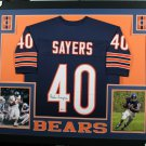 Gale Sayers Autographed Signed Framed Chicago Bears Jersey BECKETT