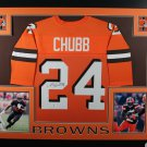 Nick Chubb Signed Autographed Framed Cleveland Browns Jersey BECKETT