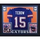 TIm Tebow Autographed Signed Framed Florida Gators Jersey BECKETT