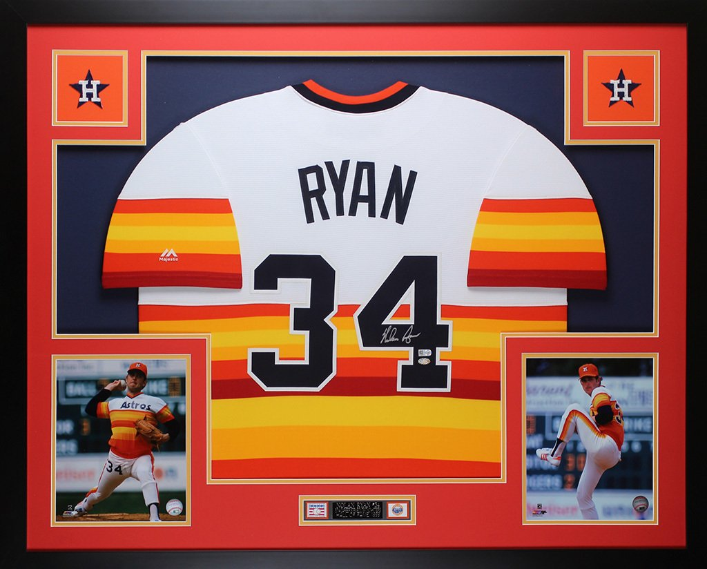 J. R. Richard Signed Autographed Framed Houston Astros Jersey JSA