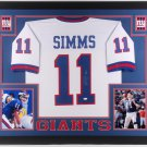 Phil Simms Autographed Signed Framed New York Giants Jersey JSA