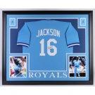 Bo Jackson Autographed Signed Kansas City Royals Framed Jersey BECKETT
