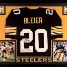 Rocky Bleier Autographed Signed Framed Pittsburgh Steelers Jersey JSA