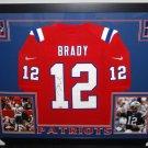 Tom Brady Autographed Signed Framed New England Patriots Nike TK Jersey FANATICS