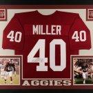 Von Miller Autographed Signed Framed Texas A&M Aggies Jersey JSA