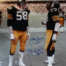 Joe Greene & Jack Lambert Autographed Signed Steelers 16x20 Photo JSA