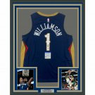 Zion Williamson Autographed Signed Framed New Orleans Pelicans Jersey PSA