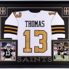 Michael Thomas Autographed Signed Framed New Orleans Saints Jersey BECKETT
