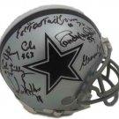 Doomsday Defense (6) Autographed Signed Dallas Cowboys Mini Helmet JSA