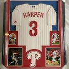 Bryce Harper Autographed Signed Framed Philadelphia Phillies Majestic Jersey PAAS