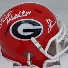 Herschel Walker Autographed Signed Georgia Bulldgos Mini Helmet BECKETT