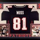 Randy Moss Autographed Signed Framed New England Patriots Jersey BECKETT
