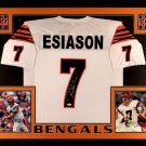 Boomer Esiason Autographed Signed Framed Cincinnati Bengals Jersey JSA