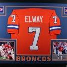 John Elway Autographed Signed Framed Denver Broncos Jersey BECKETT