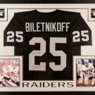 Fred Biletnikoff Autographed Signed Framed Oakland Raiders Jersey PSA