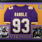 John Randle Autographed Signed Framed Minnesota Vikings Jersey JSA