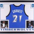 Kevin Garnett Autographed Signed Framed Minnesota Timberwolves Jersey FANATICS