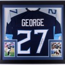 Eddie George Autographed Signed Framed Tennessee Titans Jersey BECKETT