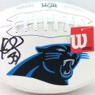 Luke Kuechly Autographed Signed Carolina Panthers Logo Football BECKETT