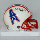 Earl Campbell Signed Autographed Houston Oilers Mini Helmet SCHWARTZ