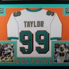 Jason Taylor Autographed Signed Miami Dolphins Framed Jersey JSA