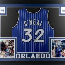 Shaquille O'Neal Autographed Signed Framed Orlando Magic Jersey BECKETT