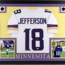 Justin Jefferson Autographed Signed Framed Minnesota Vikings Jersey BECKETT