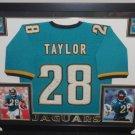 Fred Taylor Autographed Signed Framed Jacksonville Jaguars Jersey BECKETT
