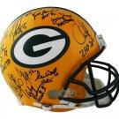 Green Bay Packers SB 31 Team (Favre +22) Signed Autographed FS Proline Helmet RADTKE
