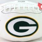 Davante Adams Signed Autographed Green Bay Packers Logo Football BECKETT