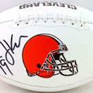 Bernie Kosar Autographed Signed Cleveland Browns Logo Football BECKETT