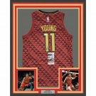 Trae Young Autographed Signed Framed Atlanta Hawks Jersey JSA