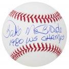 Bake McBride Phillies Signed Autographed Official Baseball SCHWARTZ