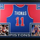 Isiah Thomas Autographed Signed Framed Detroit Pistons Jersey BECKETT