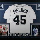 Cecil Fielder Autographed Signed Framed Detroit Tigers Jersey JSA