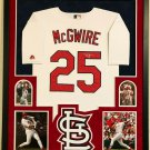 Mark McGwire Autographed Signed Framed St. Louis Cardinals Jersey JSA
