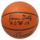 Adrian Dantley Jazz Signed Autographed Spalding NBA Basketball SCHWARTZ