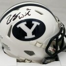 Zach Wilson Autographed Signed BYU Cougars Mini Helmet BECKETT