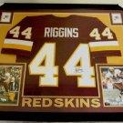 John Riggins Autographed Signed Framed Washington Redskins Jersey BECKETT