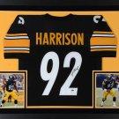 James Harrison Autographed Signed Framed Pittsburgh Steelers Jersey JSA