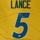 Trey Lance Autographed Signed North Dakota State Bison Jersey BECKETT
