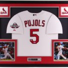 Albert Pujols Signed Autographed Framed Los Angeles Angels Jersey BECKETT